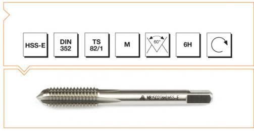 HSS-E Din 352 Machine Taps - Short - Metric Thread