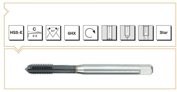 HSS-E Din 371 Machine Taps Straight Flute - Cast Iron