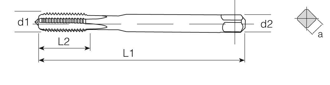 HSS-E Din 371 Machine Taps Straight Flute - Steel