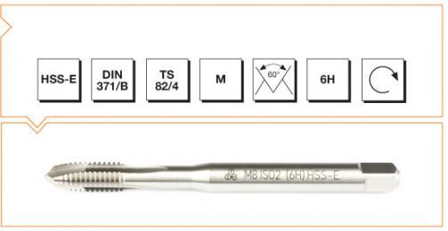 HSS-E Din 371/B Machine Taps with Straight Flute - Metric Thread