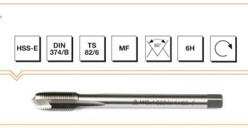 HSS-E Din 374/B Machine Taps with Straight Flute - Metric Fine Thread