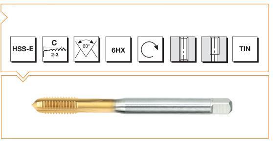 HSS-E Din 376 Machine Taps Straight Flute - Steel