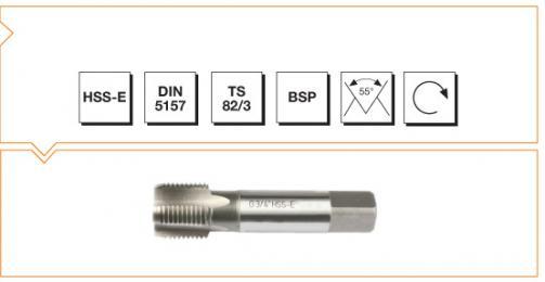 HSS-E Din 5157 Machine Taps - Short Whitworth Pipe Thread