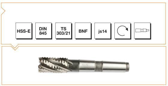 HSS-E Din 845 B-NR Morse Taper End Mills - Long