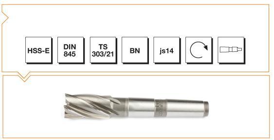 HSS-E Din 845 BN Morse Taper End Mills - Short
