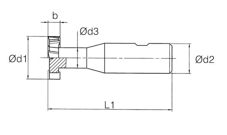 HSS-E Din 851-B T-Slot Cutter - Staggered Teeth