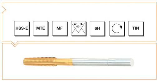 HSS-E MTE Norm Nut Taps - Metric Fine Thread - TiN