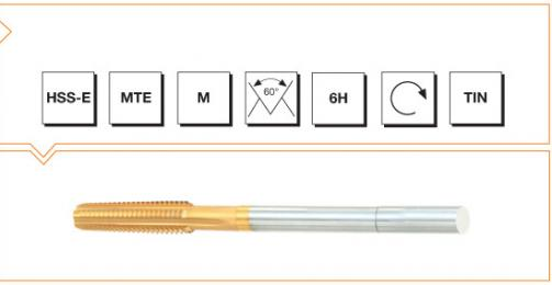 HSS-E MTE Norm Nut Taps - Metric Thread - TiN