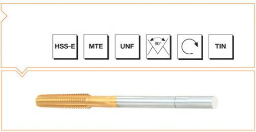 HSS-E MTE Norm Nut Taps - UNF Thread - TiN