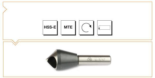HSS MTE Norm Cross Hole Countersinks