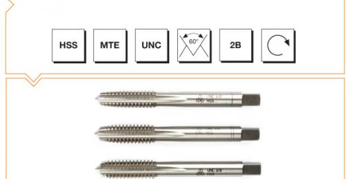 HSS MTE Norm Hand Taps (In Sets of 3) - UNC