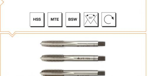 HSS MTE Norm Hand Taps (In Sets of 3) - Whitworth