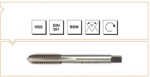 HSS MTE Norm Machine Taps - Short - Whitworth