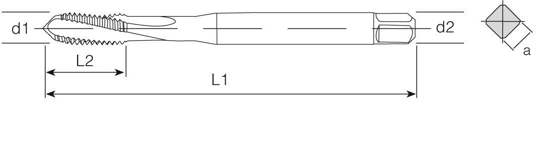 PM Din 371 Machine Taps 15° Helical Flute - Cast Iron