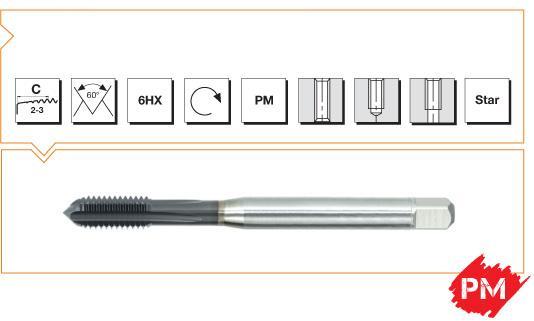 PM Din 371 Machine Taps Straight Flute - Cast Iron