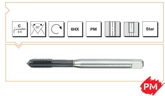 PM Din 376 Machine Taps Straight Flute -High Speed