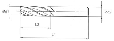 VHM MTE Norm End Mills 4 Flutes -35°/38° - Chamfer