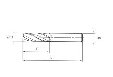 VHM MTE Norm End Mills 4 Flutes - Long